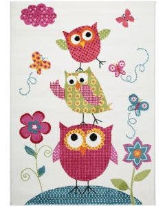 Tappeto bambino Noa Kids Owls Family Multicolor