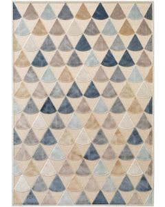 Tappeto in viscosa Woody Multicolor/Beige